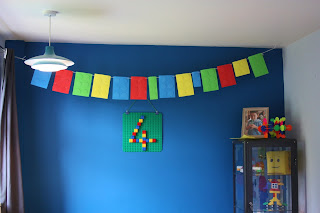 Lego party DIY bunting