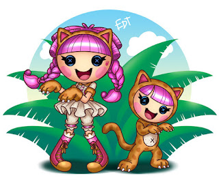 Clipart de Lalaloopsy con Mascotas.