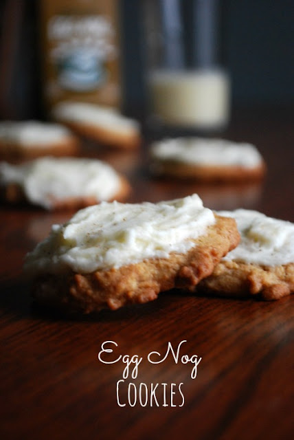 Egg Nog Cookies!!!! Awesome soft cookies with the best tasting spiced rum frosting ever.