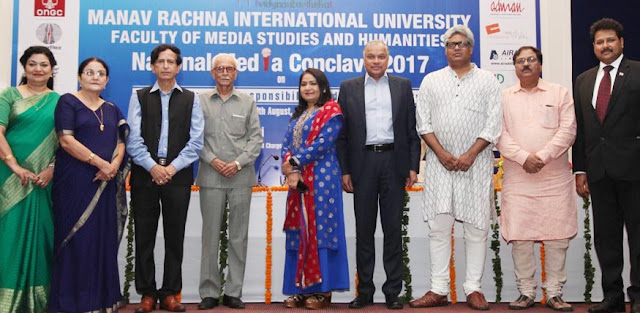 Media luminaries grace the National Media Conclave 2017 at Manav Rachna