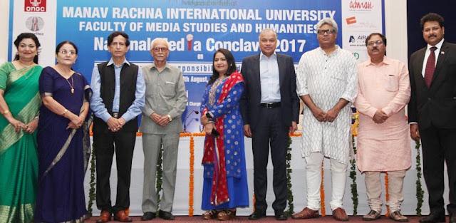 Media luminaries grace the National Media Conclave 2017 at Manav Rachna