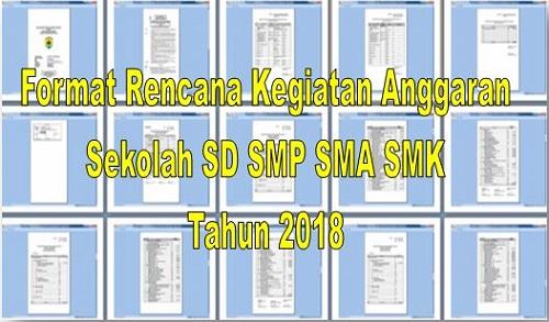 Format RKAS SD SMP SMA SMK Terbaru