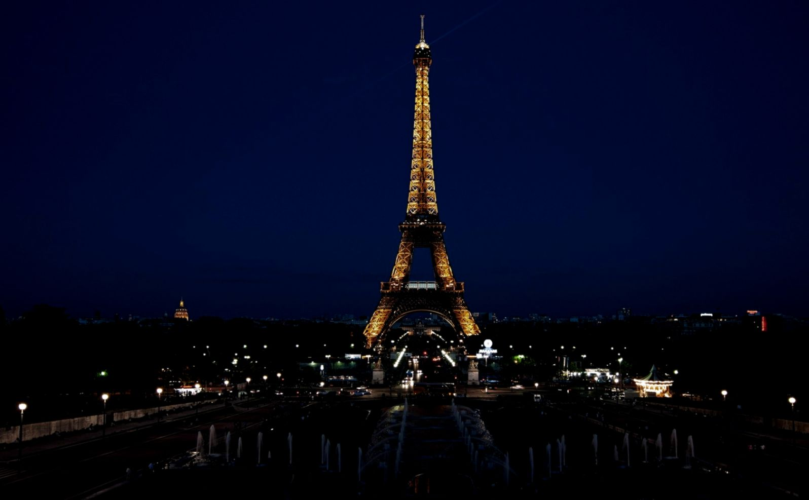 Paris France Eiffel tower City Night Lights wallpaper and