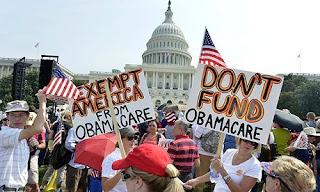 Διαδήλωση του Tea Party κατά της Οbamacare