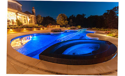Cipriano Landscape Design Ramsey Nj Best Violin Pool Blue Light Picture Image