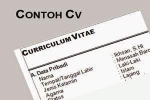 Gambar untuk Contoh Curriculum Vitae Terbaru dan Lengkap