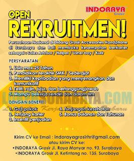 Open Rekruitment Indoraya Grosir Surabaya Oktober 2018