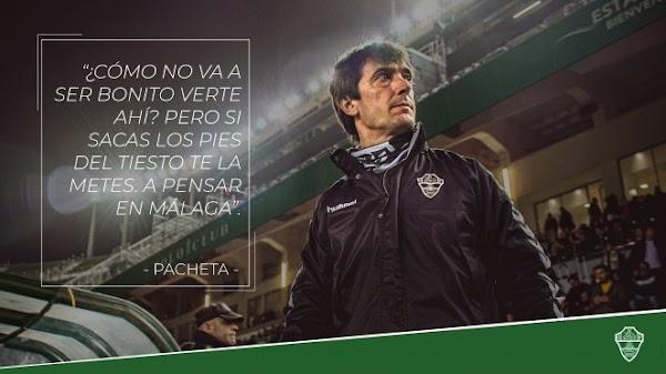 """Pacheta - Elche -: """"Mi obsesión es ganar al Málaga"""""""