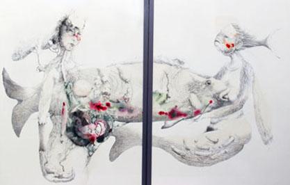 Hélène Lagnieu : La Truite (Dyptique)