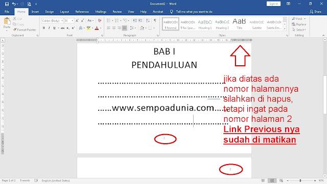 5 Langkah Cara Membuat Nomor Halaman di Word Untuk Skripsi