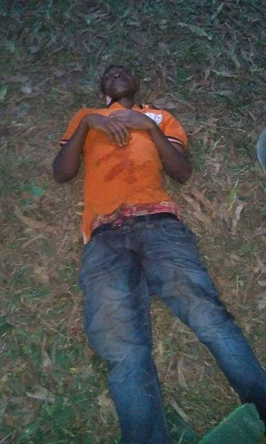 Photos: Nigerian man passes out on the road after drinking spree during New Year celebration