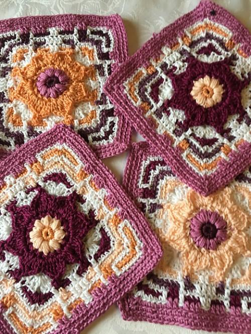 Funky Flower Tile - Free Pattern