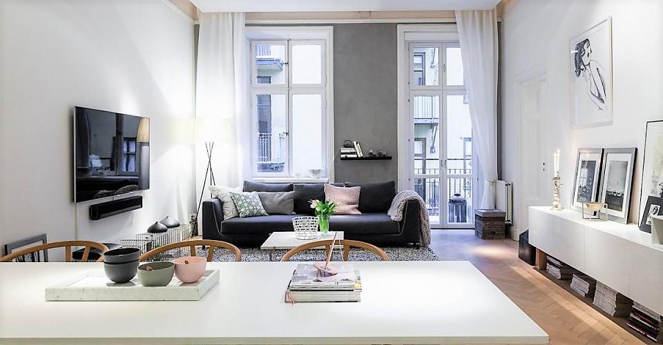 como decorar piso de alquiler amueblado con elementos decorativos neutros