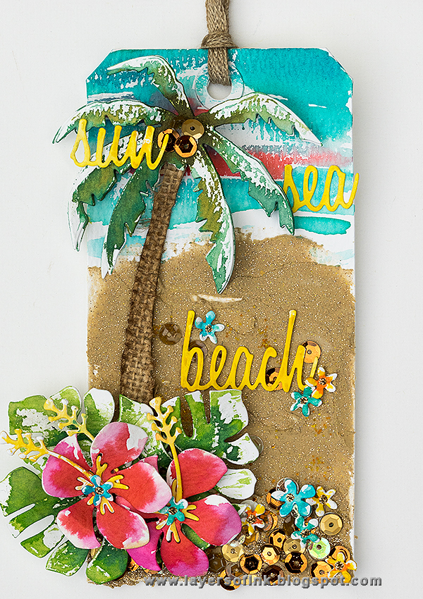 Layers of ink - Tropical Beach Tag by Anna-Karin