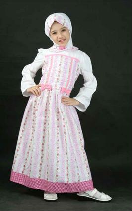 Model Dress Muslim Lebaran Anak Perempuan Terbaru