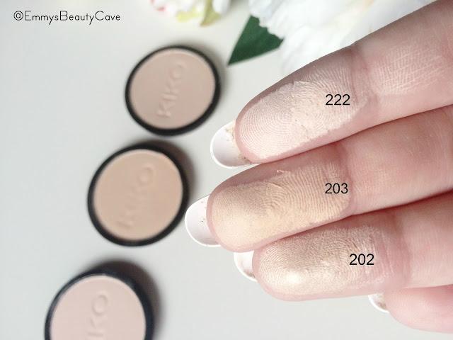 KIKO Infinity Eyeshadows 203 202 222