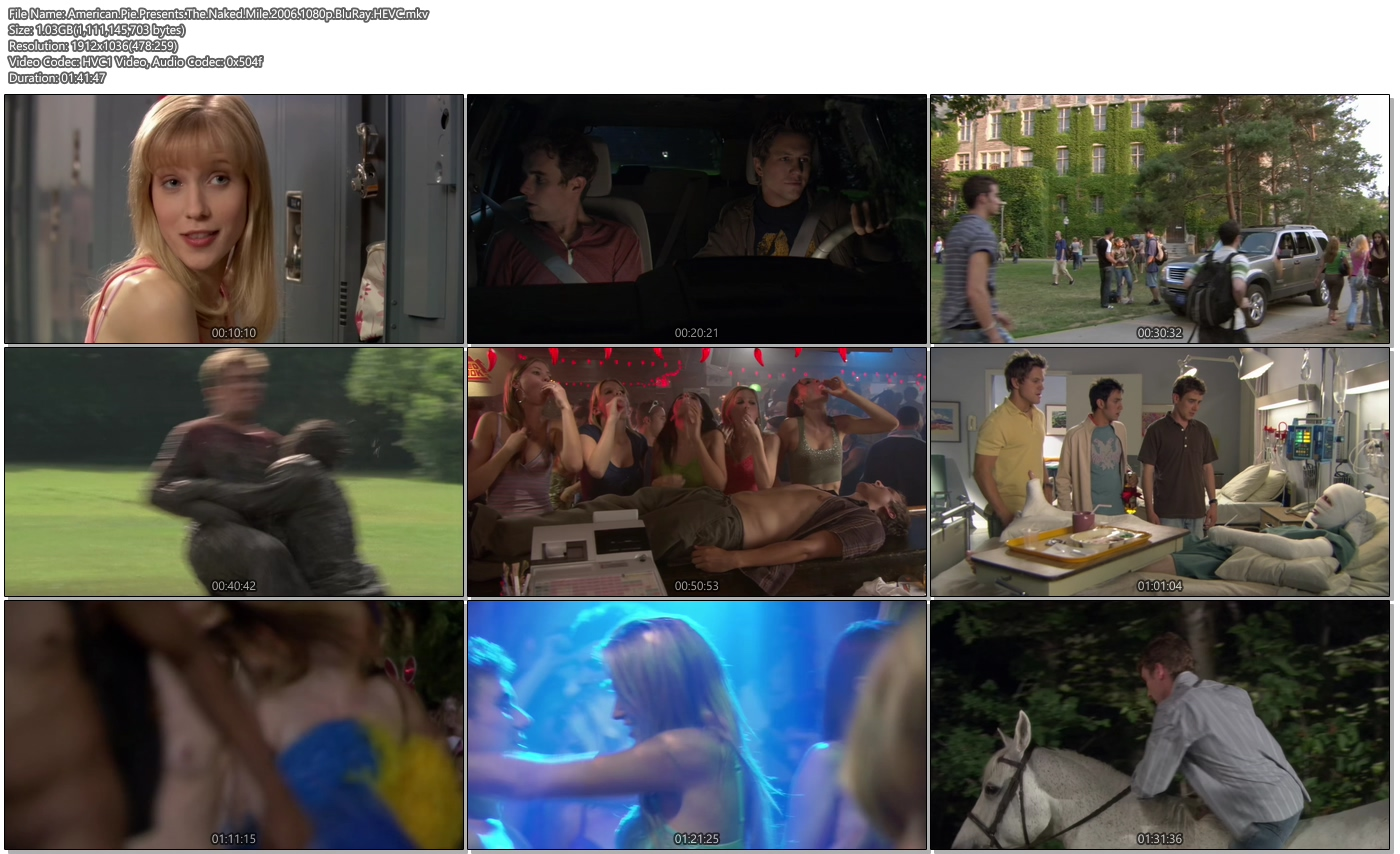 American Pie Presents The Naked Mile 2006 1080p BluRay 1.03GB HEVC Movie Screenshots