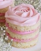 Mini Pink Rose Cake