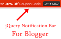 jQuery Notification Bar