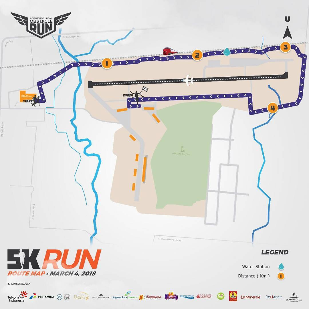 5K 👟 Adisutjipto Urban Obstacle Run • 2018 • 2021