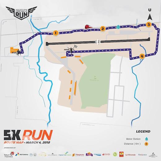 5K Adisutjipto Urban Obstacle Run Route 2018