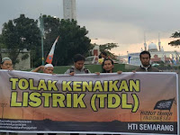 HTI Semarang Gelar Aksi Tolak Kenaikan TDL