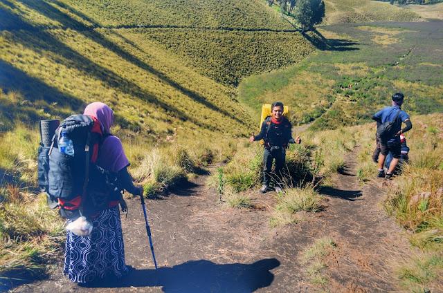 Pemandangam indah Kawasan Oro-oro Ombo gunung Semeru