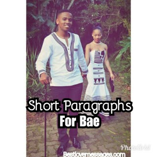 Short Paragraphs for Bae Copy and Paste