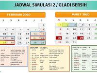 JADWAL TERBARU GLADI BERSIH UNBK 2020