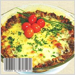 Moussaka vegetariana de berinjela com batata