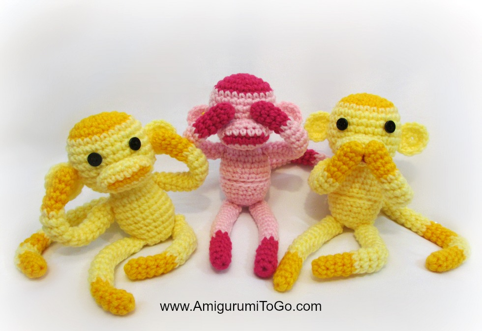 Amigurumi Monkey Patterns : Monghee the monkey amigurumi calendar contestant interweave