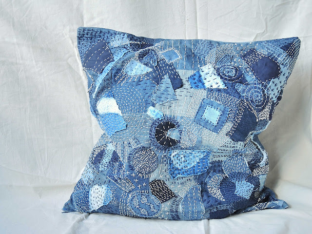 freestyle sashiko kussen pillow diy