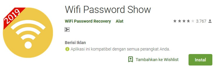 Aplikasi WIFI Password Show