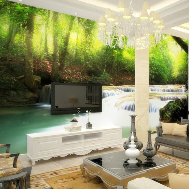 35 Beautiful Large 3d Wallpaper Mural Interior Designs