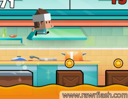 Jogos de plataforma, O chão é lava, corrida.