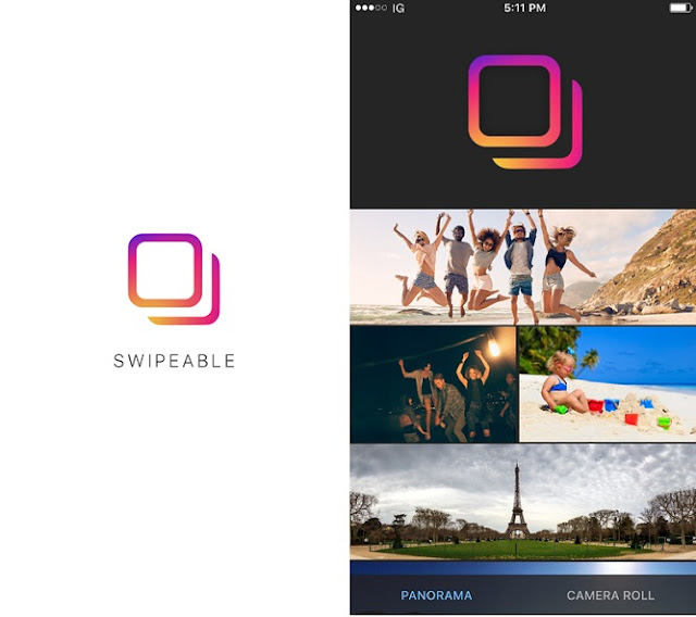 Though Instagram itself have no feature to upload or share 360 degree photos but a new app called Swipeable Panorama for Instagram allows you to upload Panorama 360° photos to Instagram just like Facebook's 360 photos