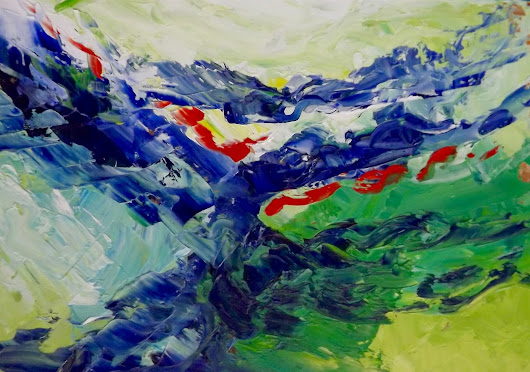 Stories of the Sea - Original Oil Abstract by Marcy Brennan