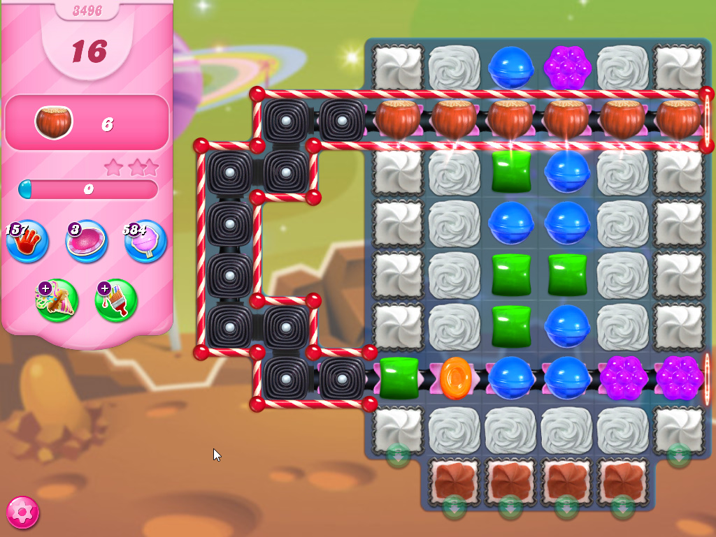 Candy Crush Saga level 3496