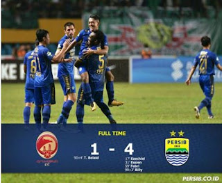 Persib Hajar Sriwijaya FC 4-1 plus Video Gol