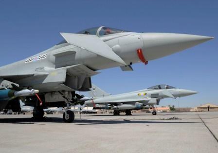 Gambar Eurofighter sebagai pesawat jet tercanggih di dunia