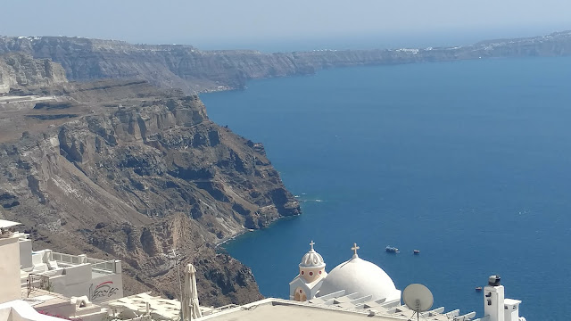 the Caldera from the top of Thira