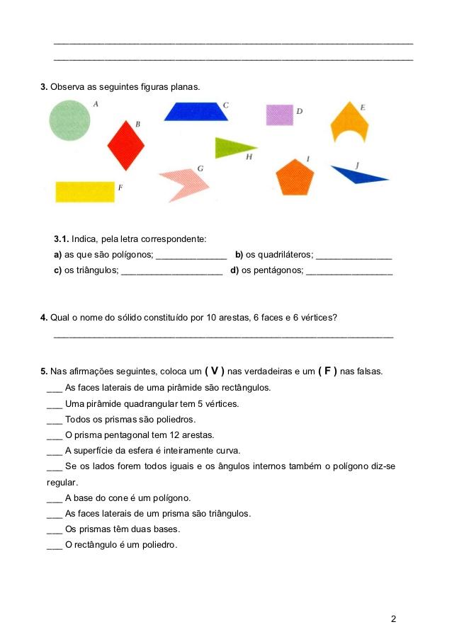 Avaliao slidos geomtricos 5 ano atividades de matemtica prova solidos geometricos 5 ano ccuart Image collections