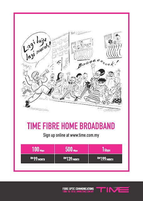 TIME Fibre Home Broadband Paling Laju