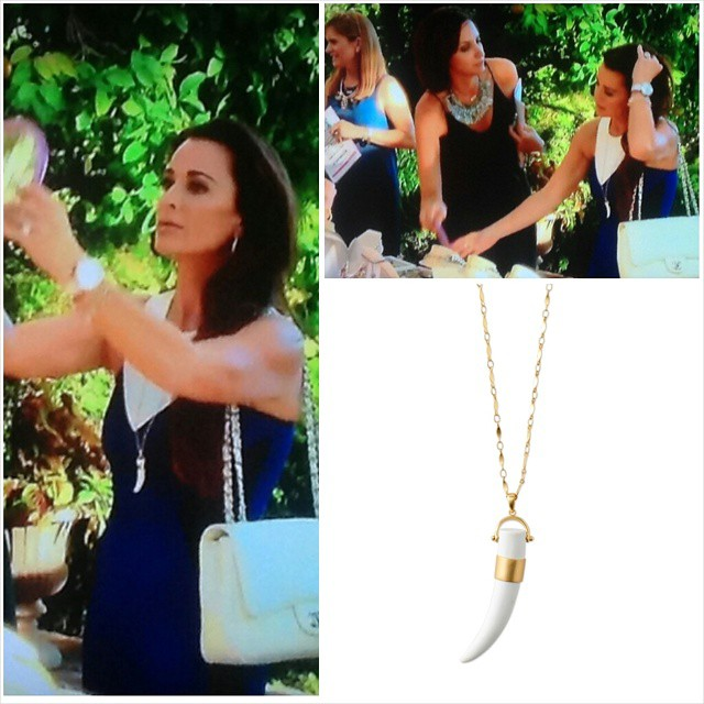 Kyle Richards in Stella & Dot Sahara Necklace