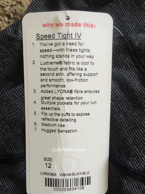 lululemon speed tight iv tag