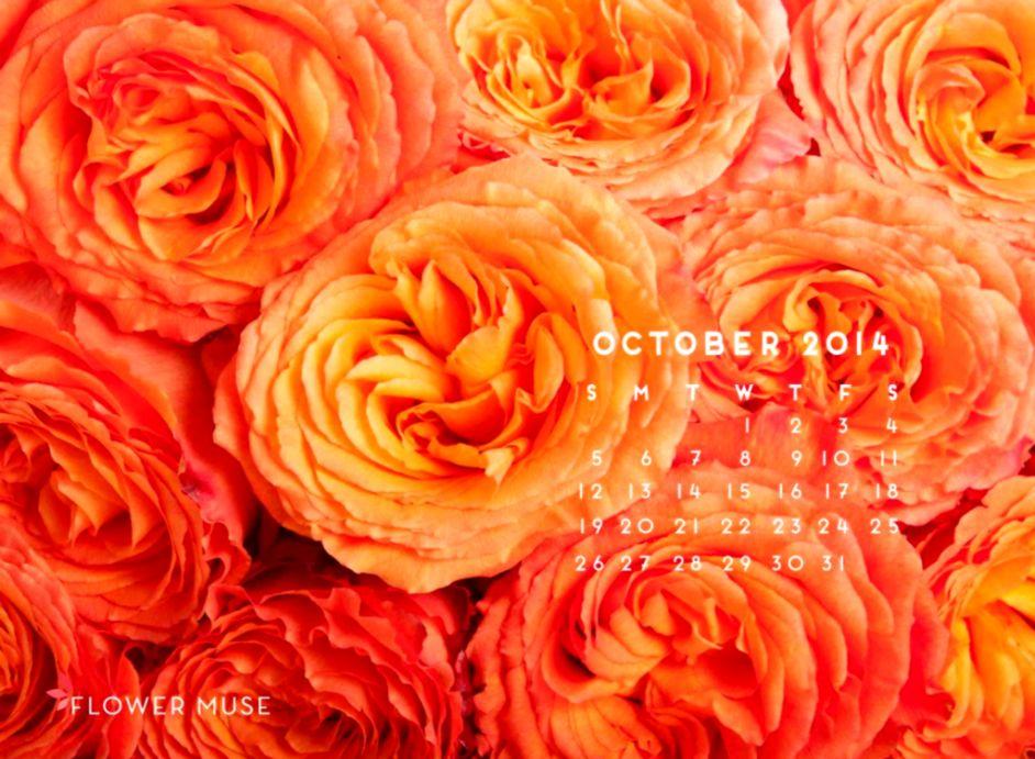October 2014 Calendar Flower Muse Blog
