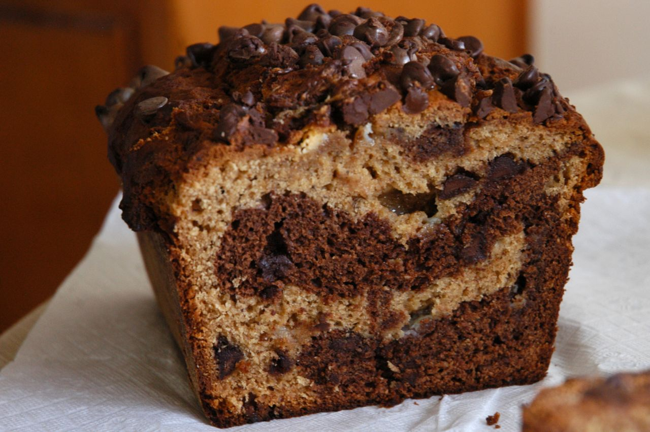 Chocolate Peanut Butter Banana Bread - Adapted from Sugar Plum Blog