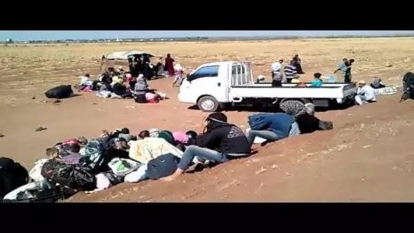 pengungsi suriah di perbatasan yordania