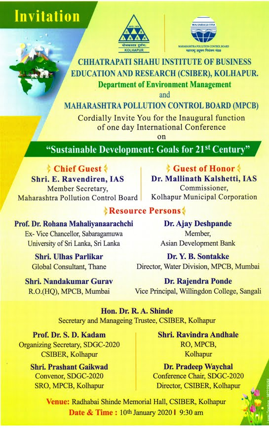 International Conference on Sustainable Development aD