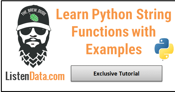 String Functions in Python with Examples